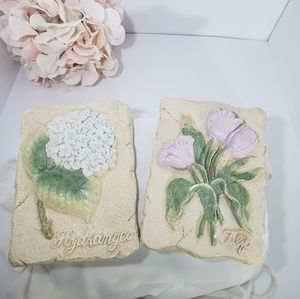 Set of 2 Decorative Wall Art of Flowers 5×7